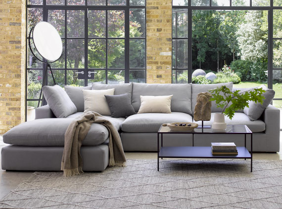 Grey Bluebell sofa in living room