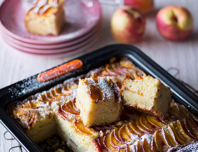 Nectarine and almond cake recipe
