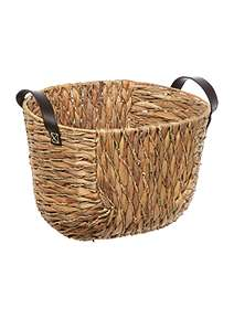Linea Water Hyacinth and Seagrass Oval Basket