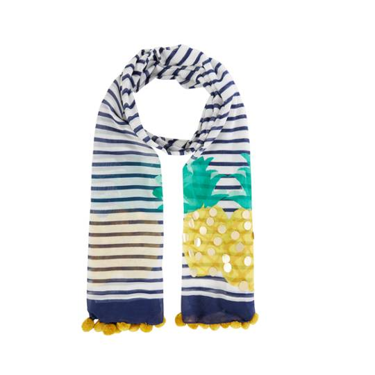 Kate Spade New York Pineapple Sequin Stripe Oblong Scarf