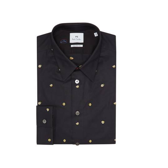 PS by Paul Smith Tailored Fit Embroidered Lemon Shirt