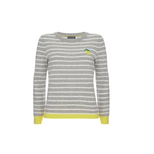 Mint Velvet Lemon Stripe Knit
