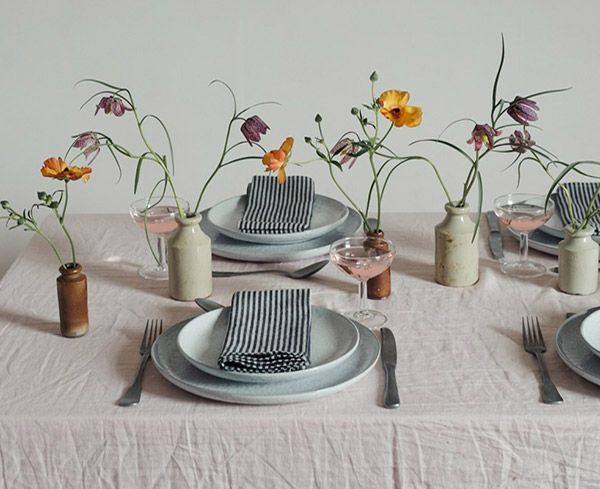 Scandi inspired spring table