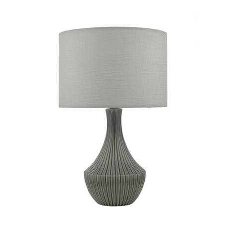Linea Evie Ribbed Ceramic Table Light