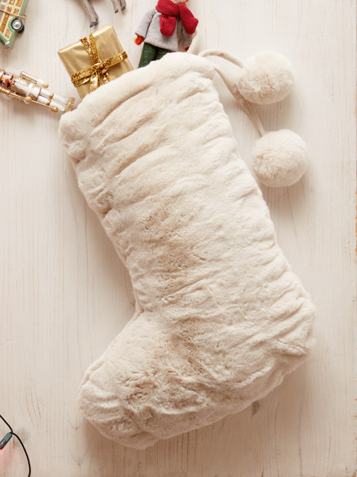Faux fur Christmas stocking product image