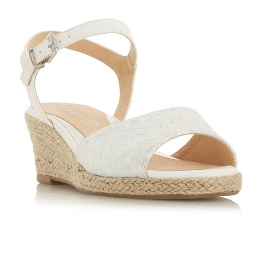 Head Over Heels Kyyli Woven Espadrille Mid Wedge Sandals