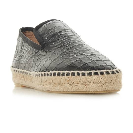 Dune, Black leiria espadrille shoes