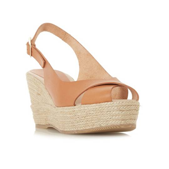 Dune Black Kyri Wedge Sandal Shoes