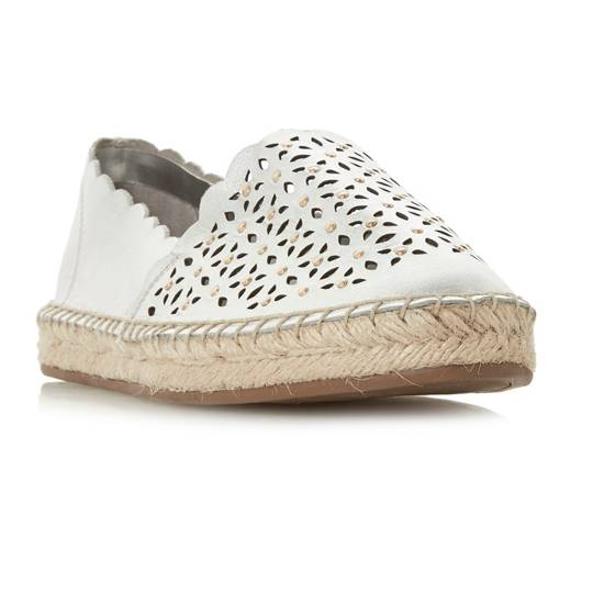 Dune, Gracelynn laser cut espadrille shoes